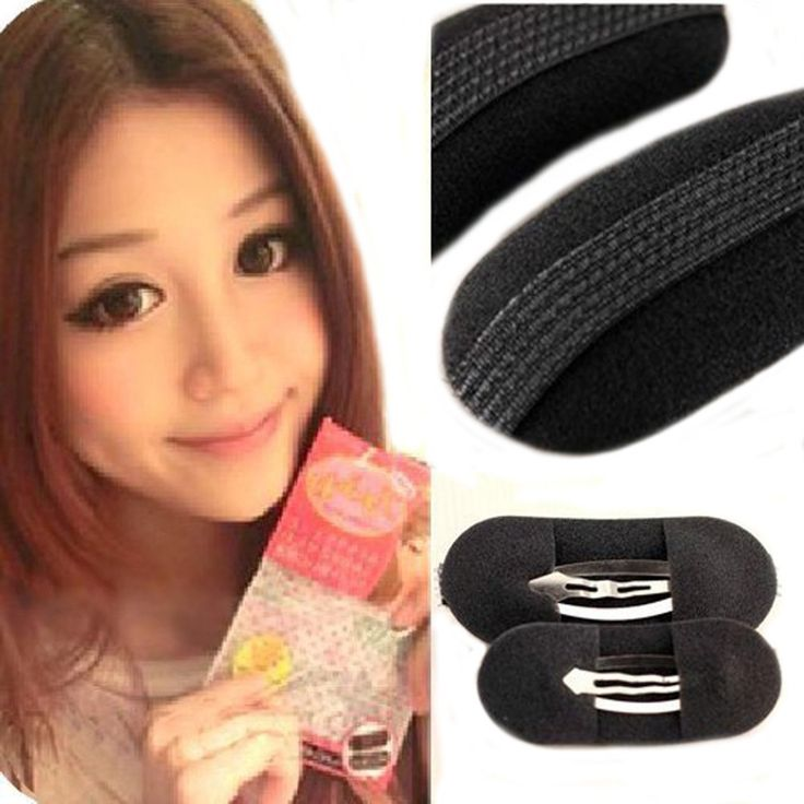 Flyusa 3 Pairs Sponge Style Bump It Up Volume Velcro Hair Inserts With Clip Back Do Beehive Hair styler Tool * Click image for more details. #hairdressing