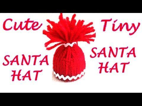 DIY Super CUTE tiny SANTA hat