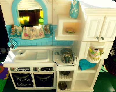 Plastic Play Kitchen 14 best plastic toy spraypaint makeovers images on pinterest