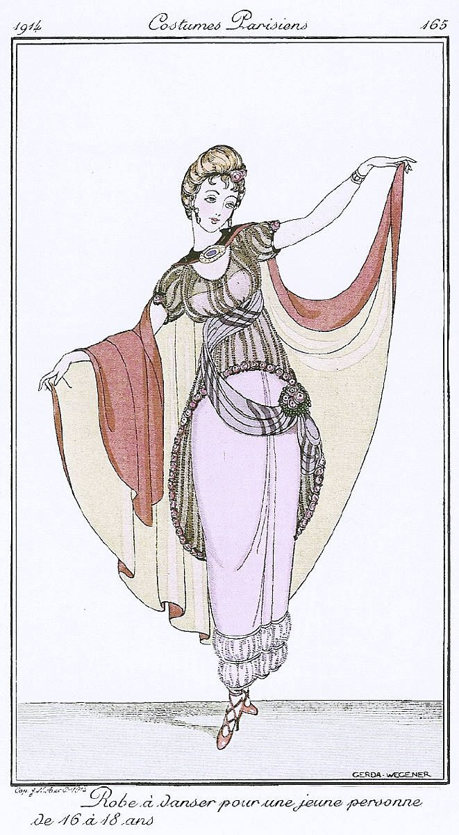 CostumesParisiens's artwork titled Robe a Danser... by Gerda Wegener presented by Artophile