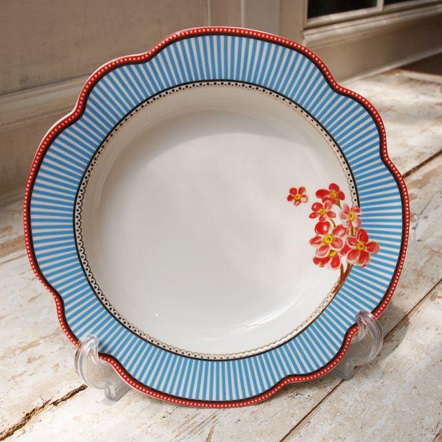 【北欧直輸入】リスベスダール スーププレート シーサイド(Lisbeth Dahl Soup Plate Seaside porcelain)[HH40159] #manonstore #LisbethDahl