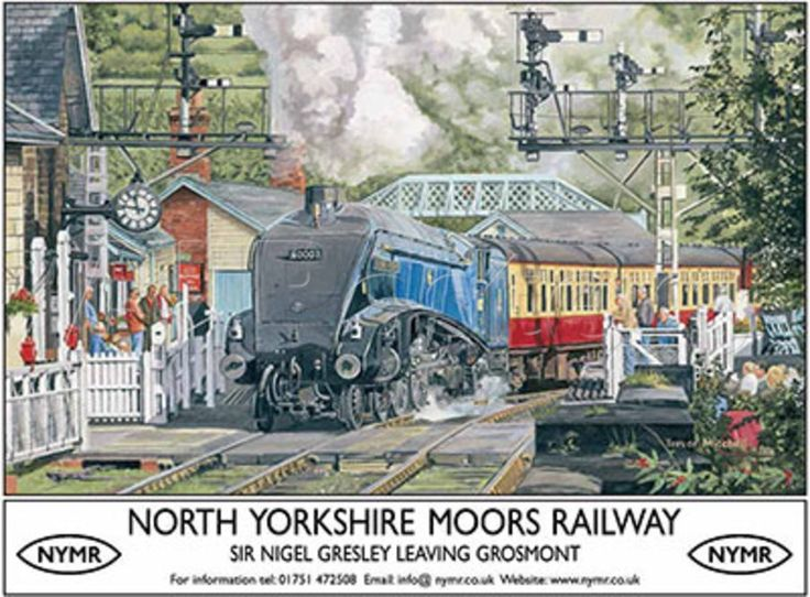 North Yorkshire Moors Railway Tin Sign by Trevor Mitchell - AllPosters.co.uk.16