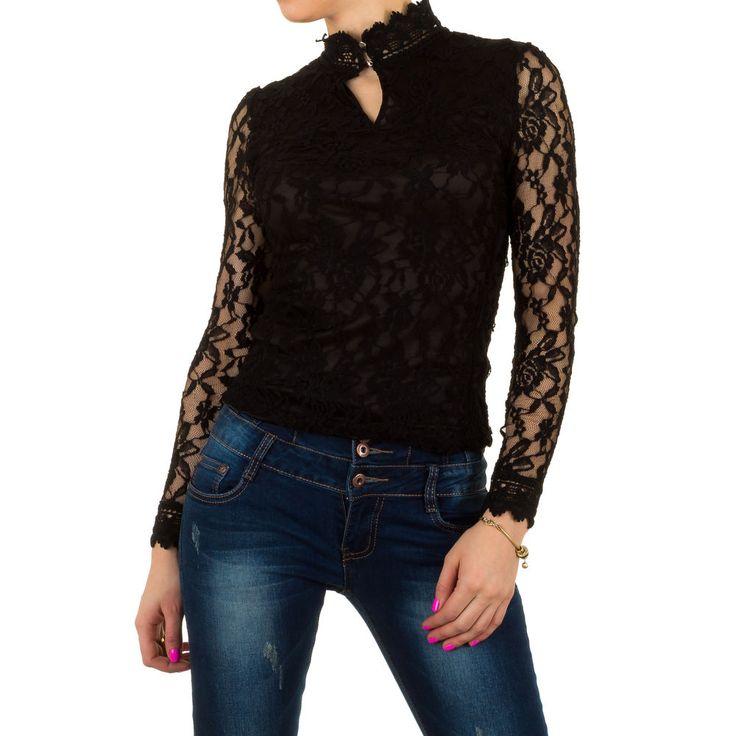 Elegante Damen Stretch Spitzenbluse. Dieses Oberteil ist mit Jeans, Rock oder Shorts toll kombinierbar.