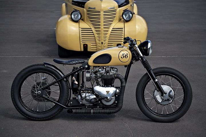 This is such a sexy custom bobber. I really like the minimalist approach to these bikes. The spoke wheels don't hurt either. #CustomMotorcycle #BobberMotorcycle #CustomBobber