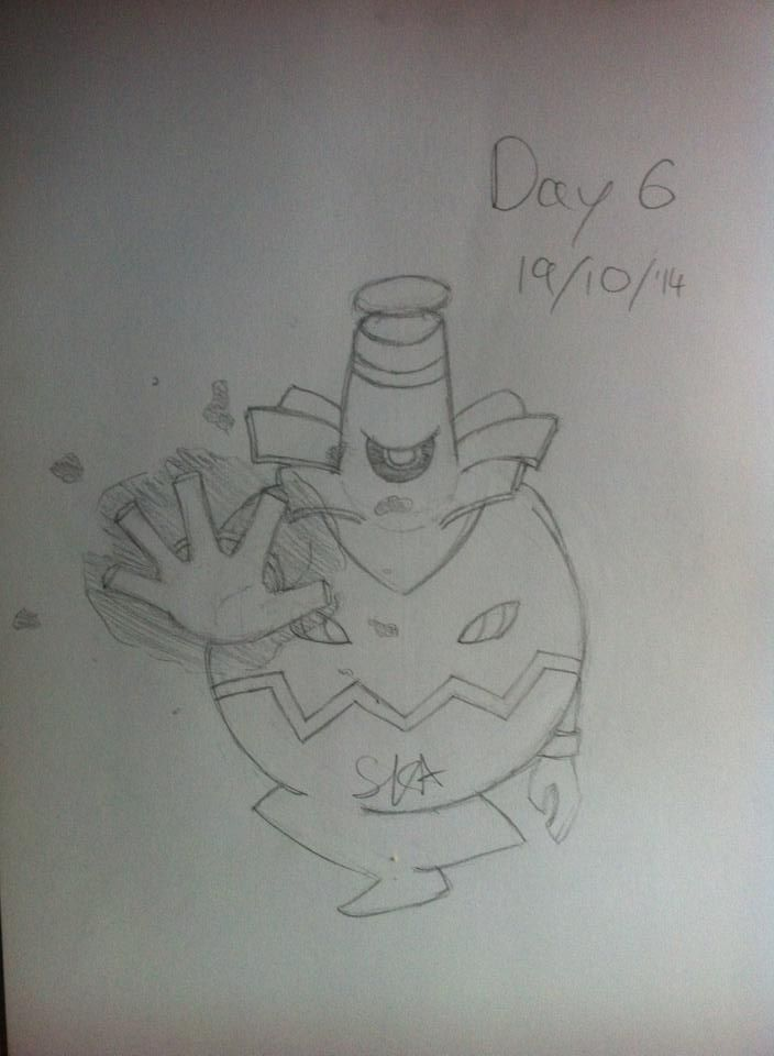 I need to improve my drawing ability so I'm challenging myself to draw every day for 30 days. Here's day 6: Dusknoir
