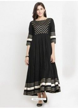 18c1e27a6cd Black Viscose Rayon Printed Kurti
