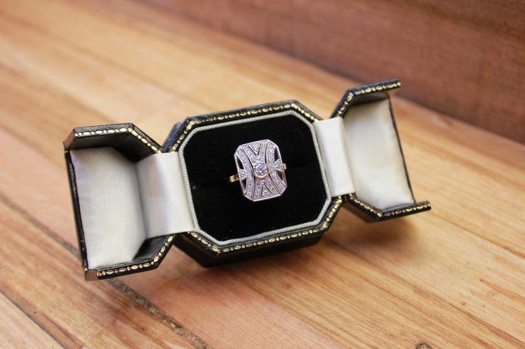 Engagement ring. Wedding jewellery. Art deco. Hand-made. White gold. Diamond ring. #roseandcrownjewellers #diamond #engagementring #weddingjewellery