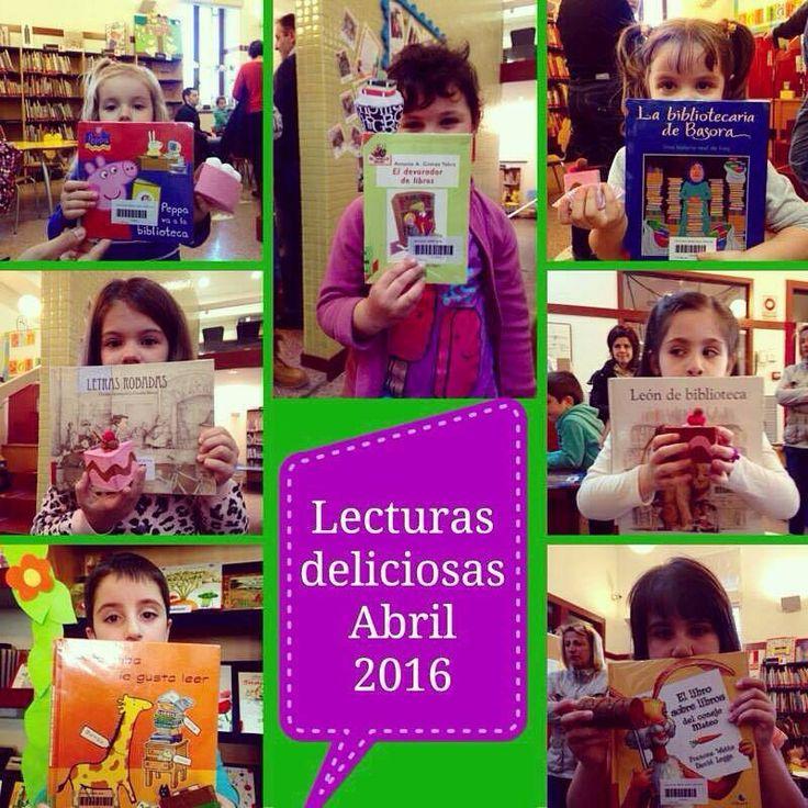 Estos son nuestros #lectores con sus #Lecturas deliciosas del mes de abril. Todas dedicadas al mundo del libro, para preparar el Día del Libro y San Jorge.