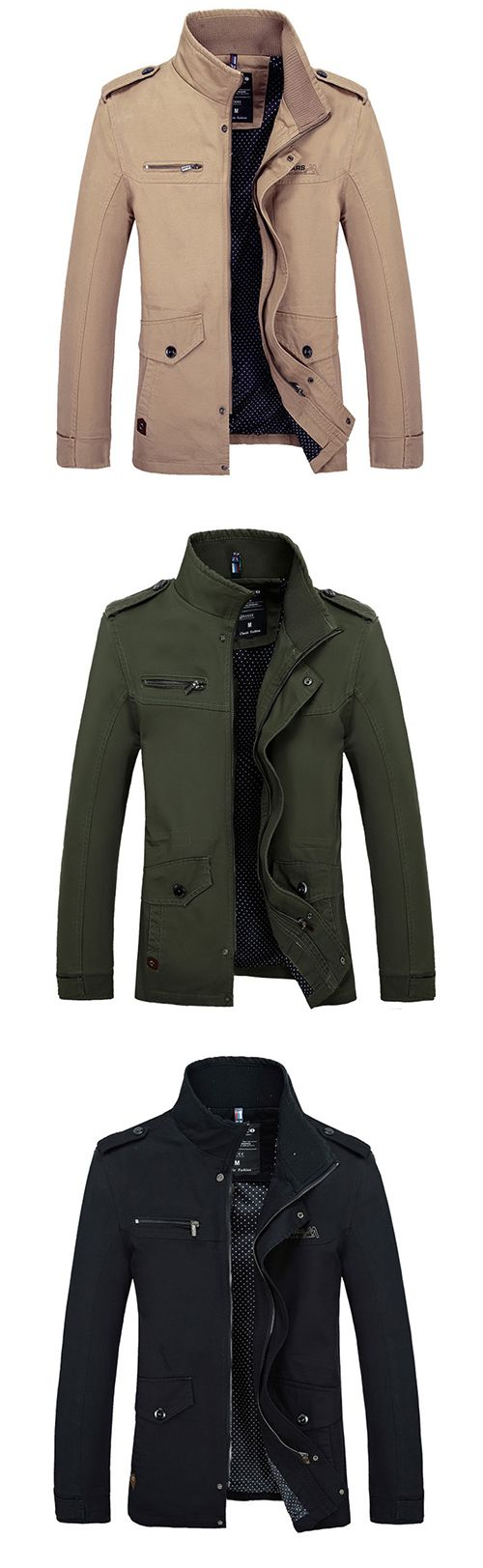 Men's Daily Going out Simple Casual Winter Fall Jackets