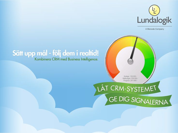 Graphics, typography | Business Intelligence ad for Lundalogik