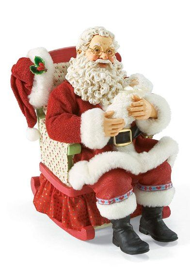 Rockabye baby musical santa claus figurines and hand