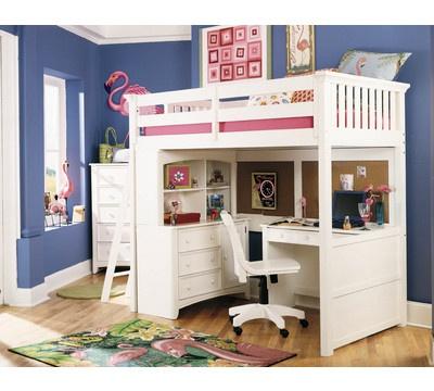 loft bed with desk and dresser storage underneath organization kid bedroom pinterest. Black Bedroom Furniture Sets. Home Design Ideas
