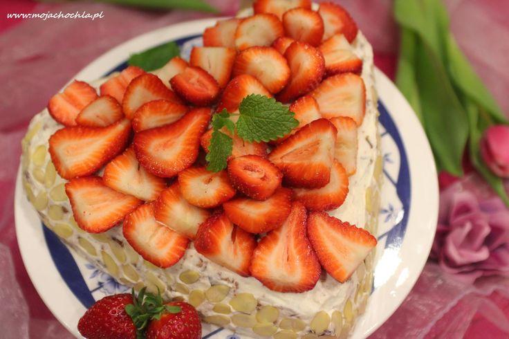 Tort straciatella z truskawkami DZIEŃ KOBIET