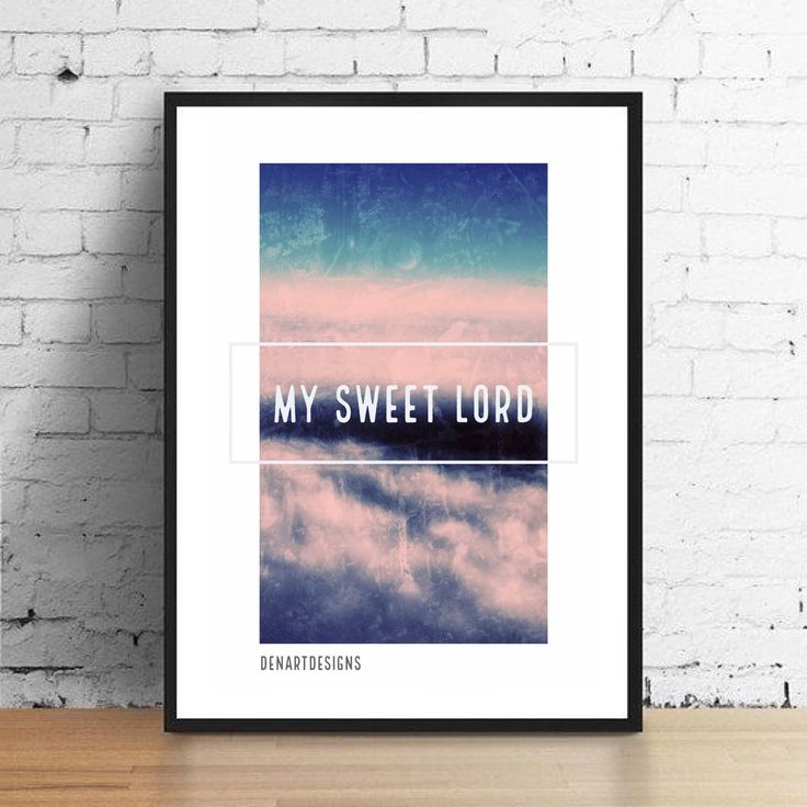 Great gift for all music lovers. My Sweet Lord by George Harrison is a classic song. Fantastic for any occasion.