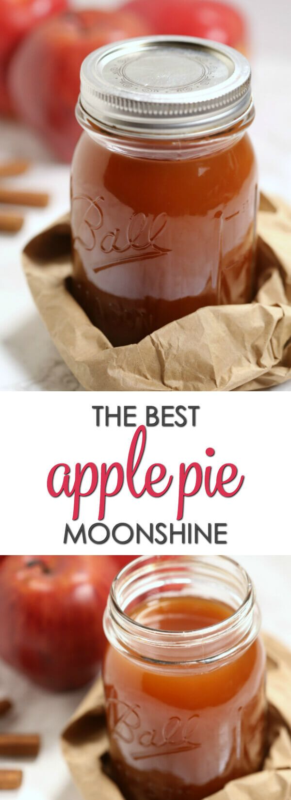This is the bestApple Pie Moonshine recipe. Made with apple cider and Everclear grain alcohol, it packs a punch but still it's smooth andbursting with apple cinnamon flavor.#itisakeeper #recipe #moonshine via @itsakeeperblog