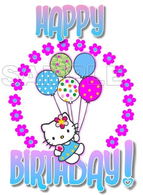 Hello Kitty Birthday Shirt | Hello Kitty Happy Birthday T Shirt Iron on Transfer Decal #33 Hello ...