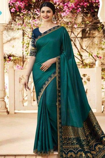 2e327837a8fdb Rangoli Georgette Saree with Blue Colour Blouse - SARV0481