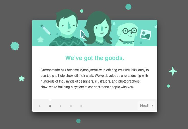 Cute Tour Modal From Carbonmade › PatternTap