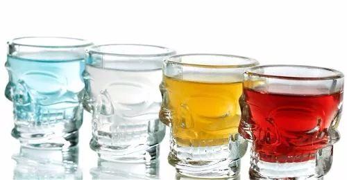 vasos shot calavera set x 4 chupito para tequila vodka
