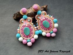 Pom pom pastel earrings - JBF Art