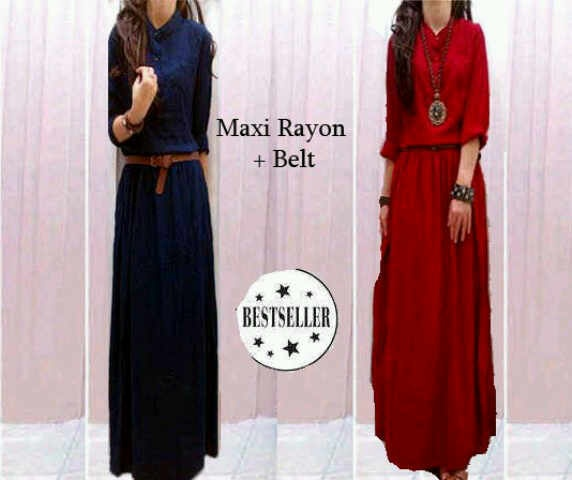 Maxi Cotton Rayon + belt  IDR 115.000 ORDER : SMS to 083892900957