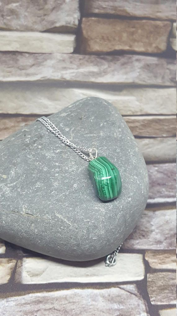 Malachite on chain Reduced Special Offer Chakra Crystal