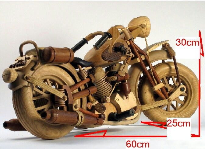 hand-made of wood 30 species harley Davidson