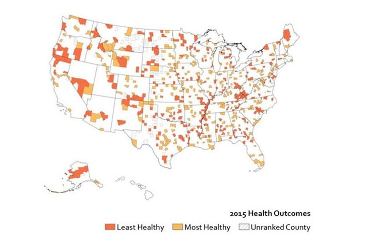 Look up how healthy your county is with this awesome interactive tool The 2015 County Health Rankings released this handy interactive tool where you can plug in your zip code and see how healthy your county is compared to others in your state.