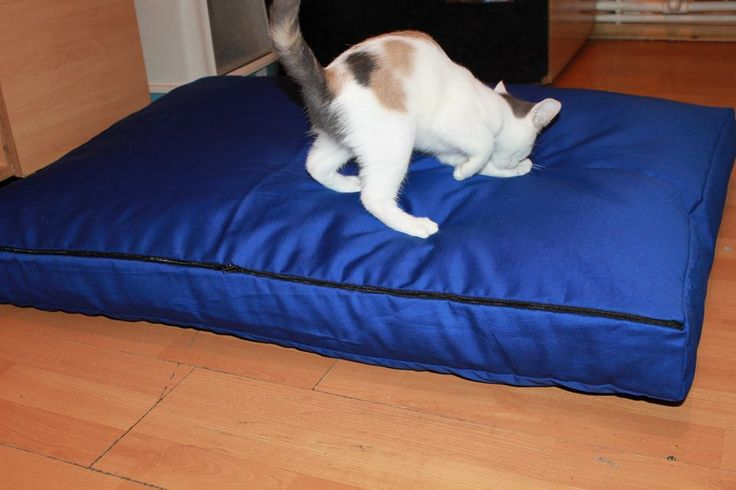 Handmade mattress, for large size dogs, manually sewn and finished, made from resistant materials, size 100/70cm, thickness 10 cm, filled with silicone fluff and comfortable for any furry pets.Unique design.The cover is washable at 30 ° C.
