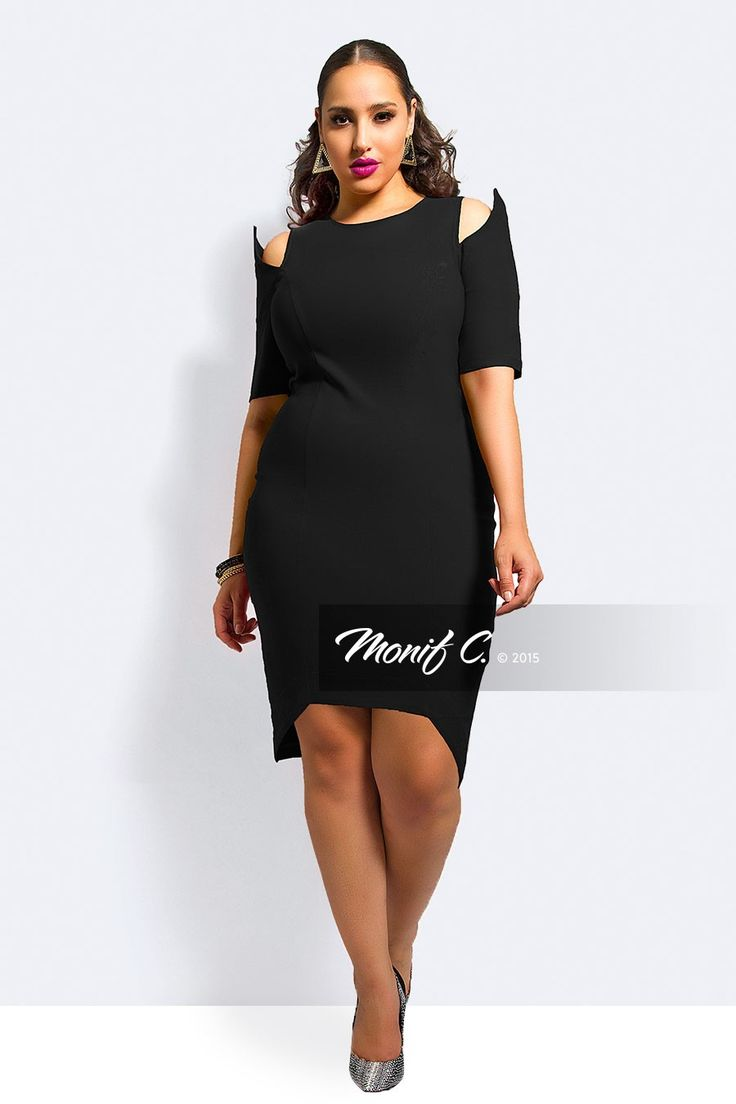Monif c black dress girl