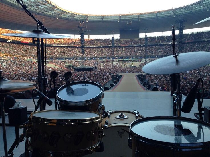 The view from Charlie's drum kit #StonesParis