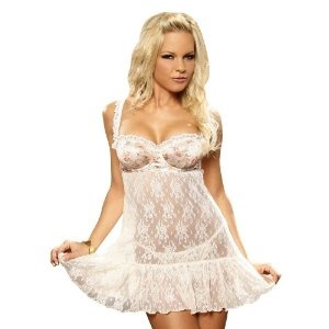 White Lace Babydoll Underwire Chemise Satin Bra Sexy Lingerie (Apparel)  http://www.amazon.com/dp/B004AAL9KQ/?tag=http://howtogetfaster.co.uk/jenks.php?p=B004AAL9KQ  B004AAL9KQ