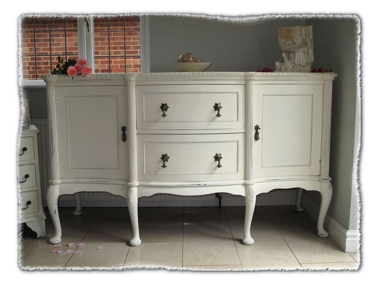awesome mahogany sideboard made over in the shabby chic. Black Bedroom Furniture Sets. Home Design Ideas