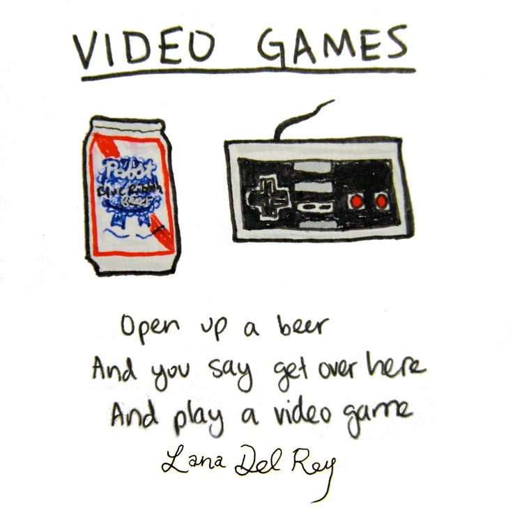 Lana Del Rey - Video Games (lyrics illustration)