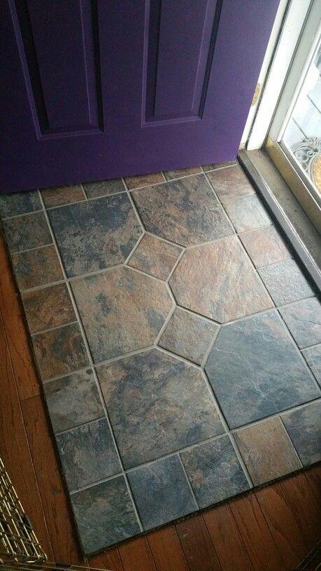 Wood Look Tile Foyer : Slate entry porcelain tile that looks like wood going to
