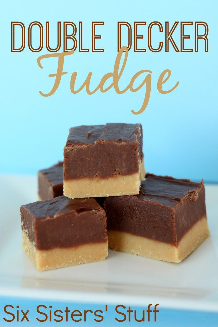 Double Decker Peanut Butter Fudge on SixSistersStuff.com - this is a tradition at our house each Christmas!