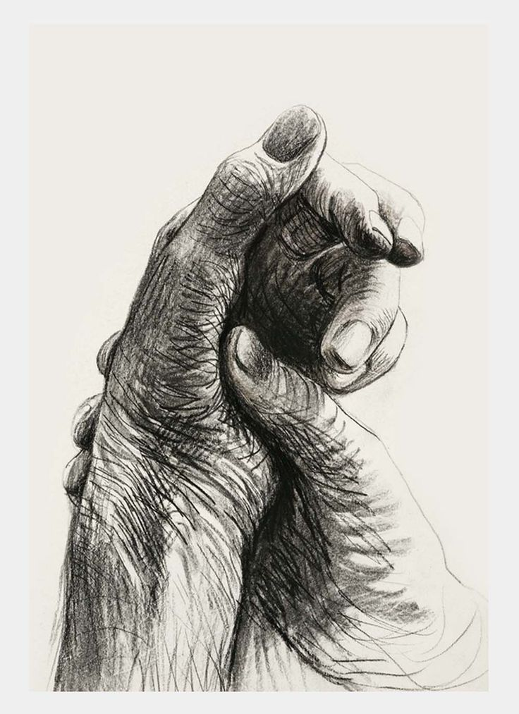 Henry Moore, The Artist's Hands, 1974