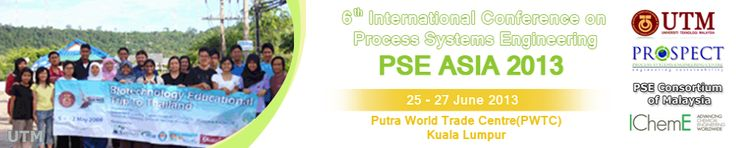 Sunway Putra Hotel Kuala Lumpur Welcome All Participants to 6th International Conference on Process Systems Engineering(PSE ASIA) 2013 to be held at the Putra World Trade Centre (pwtc) on the 25 - 27 June 2013.