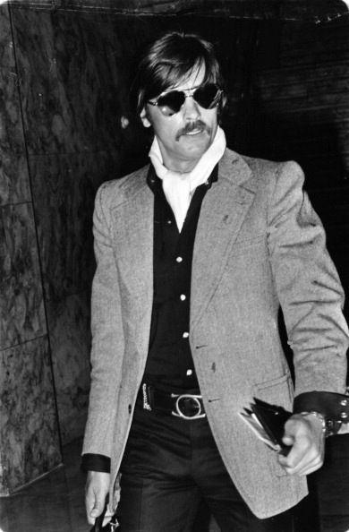 Alain Delon in Madrid, 1975.