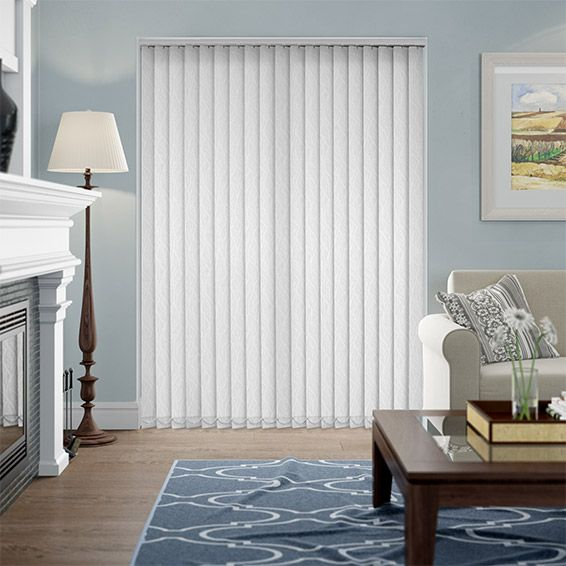Fall Bright White Vertical Blind from Blinds 2go