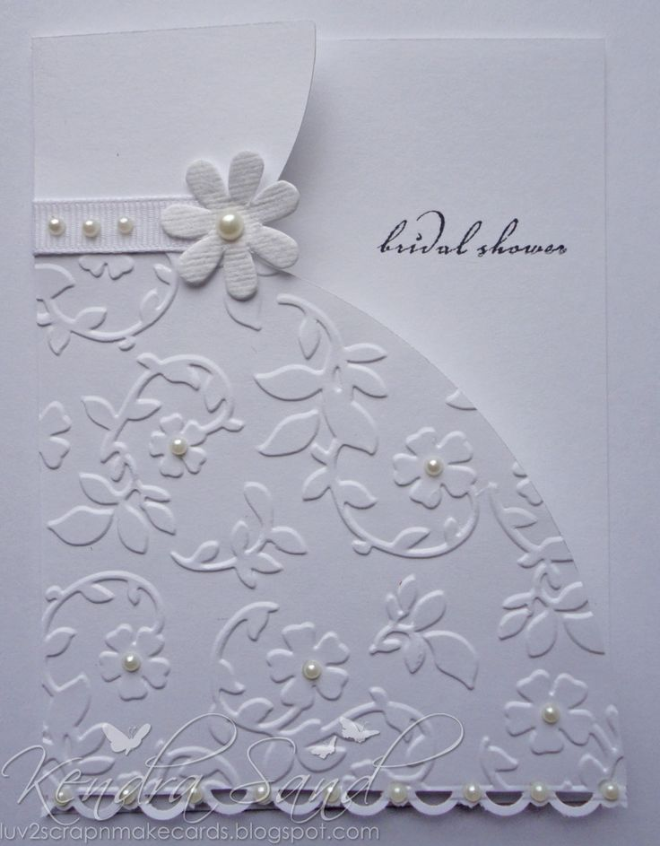 Lovely card for a bridal shower or