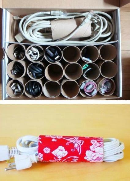 rotoli di cartone per mettere in ordine casa
