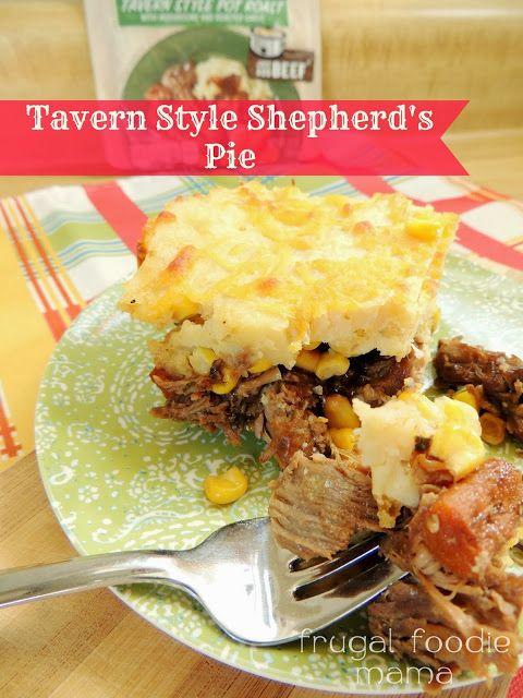 Tavern Style Shepherd's Pie via thefrugalfoodiemama.com #CampbellSauces #potroast #slowcooker