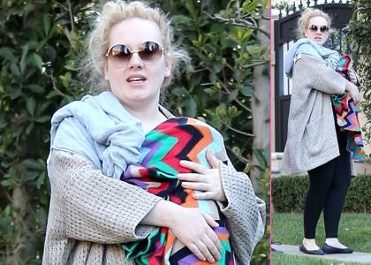 Adele: Baby's Day Out - Taking her baby boy out for some fresh air, Adele Adele and her boyfriend Simon Konecki enjoyed a walk in Beverly Hills on Wednesday (January 16). The powerful voiced Brit kept her newborn