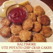 Superbowl Themed Meals:  Baltimore Utz Potato Chip Crab Cakes