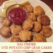 Superbowl Themed Meals:  Baltimore Utz Potato Chip Crab Cakes