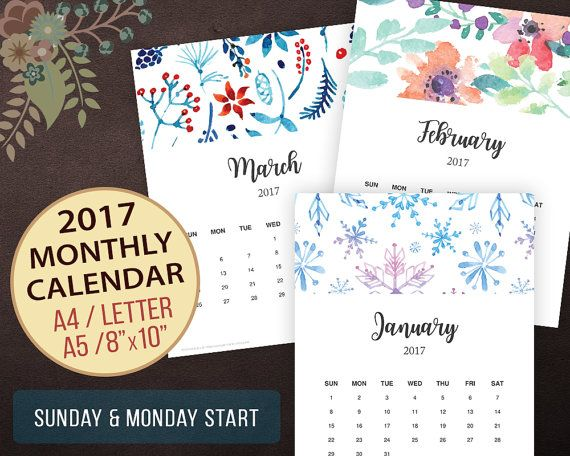 Best 25+ January 2017 calendar template ideas on Pinterest - sample monthly calendar