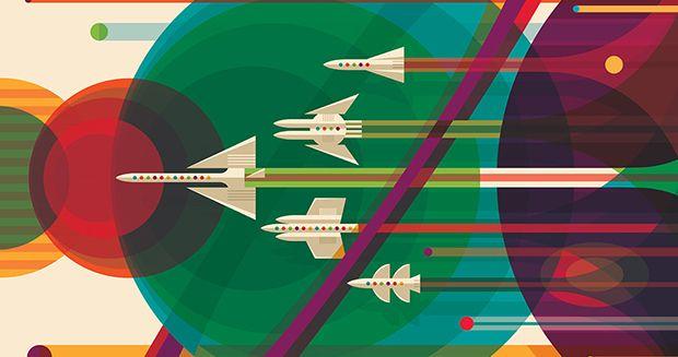 NASA lança pôsteres inspiradores sobre viagens espaciais