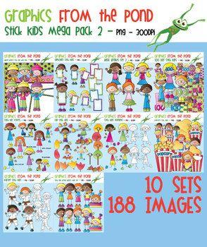 Stick Kids Mega Pack 2 - Clipart for Teaching