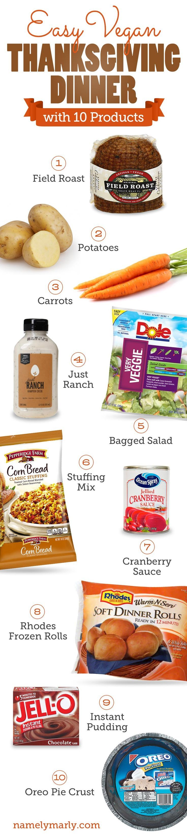 Easy Vegan Thanksgiving Dinner with 10 Products is a resource to create your easy vegan thanksgiving dinner with minimal steps and lots of flavor!
